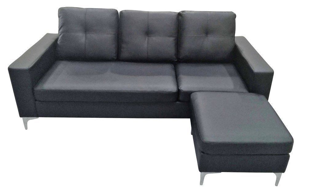Seater Faux Leather Sofa With Matching Stool Cream Or