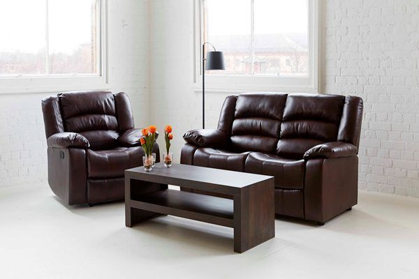 Manual Recliner Sofas With Pure Leather